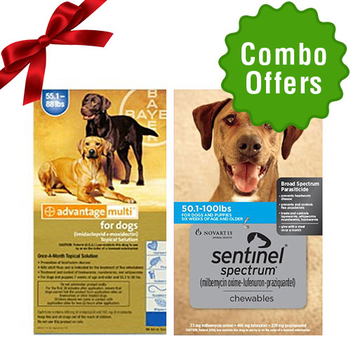 Advantage Multi + Sentinel Spectrum Combo for Dog