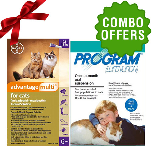 Advantage Multi + Program Oral Suspension Combo Pack for cat