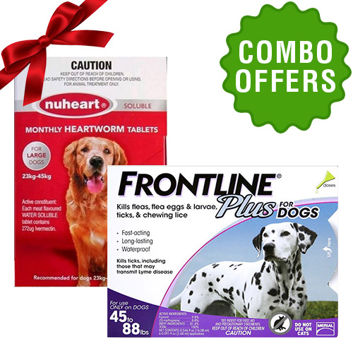 Frontline Plus + Nuheart combo for Dog
