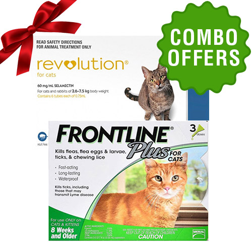 Frontline Plus and Revolution Plus combo for cat