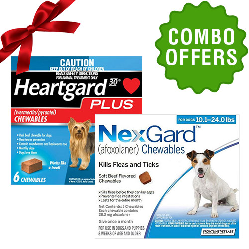Nexgard and Heartgard Plus combo for DOG