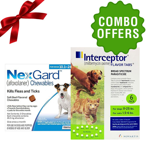 Nexgard and Interceptor combo for Dog