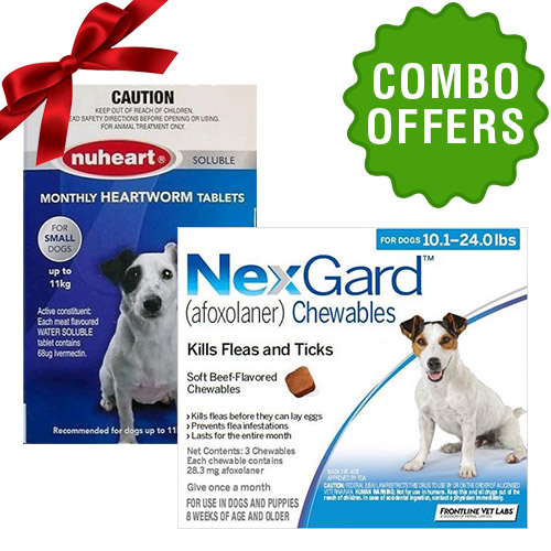 Nexgard and Nuheart combo for Dog