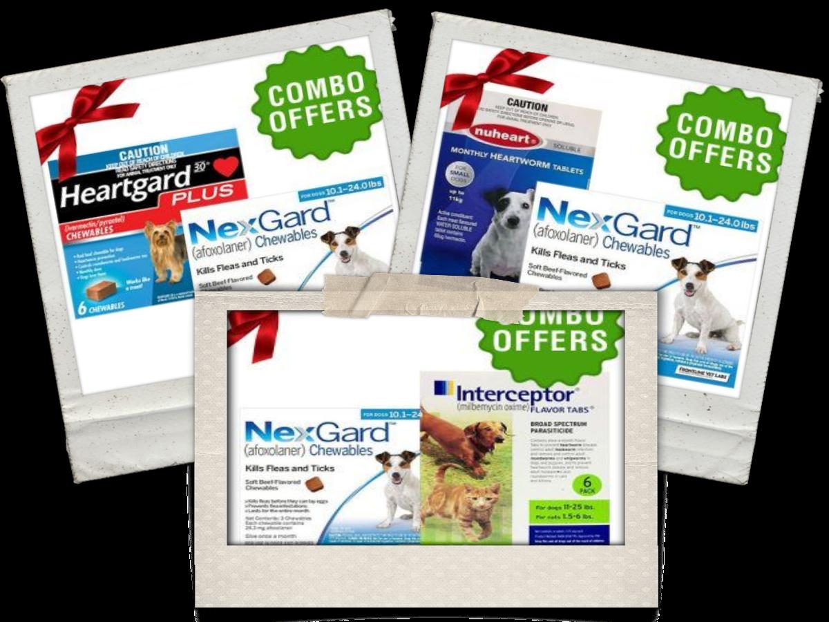 Nexgard + (Heartgard Plus/Interceptor/Nuheart) combo for Dog